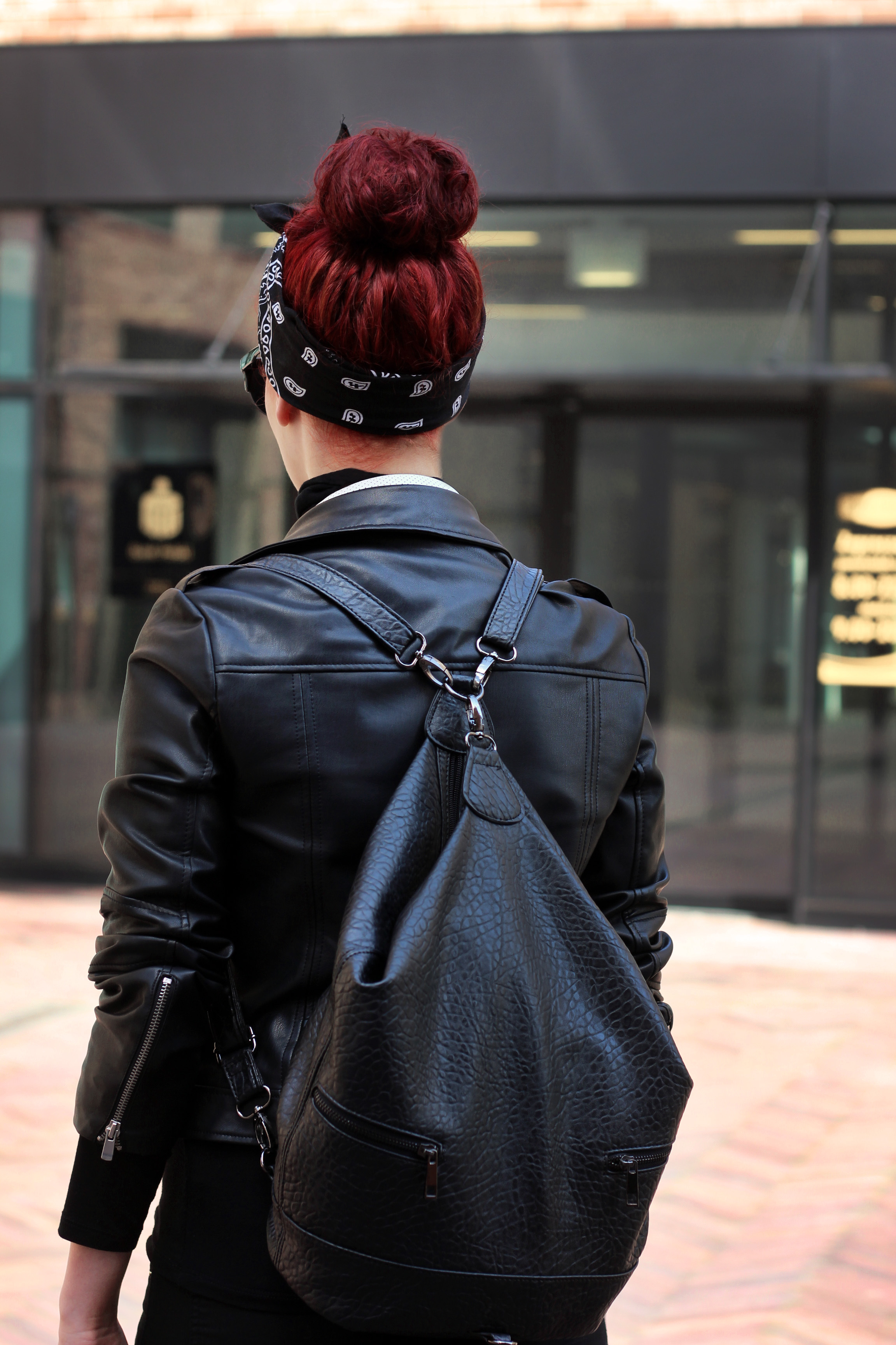 bandana & AF1 backpack